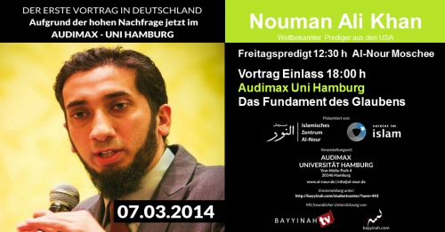 Nouman Ali Khan am 07.03.2014 in Hamburg